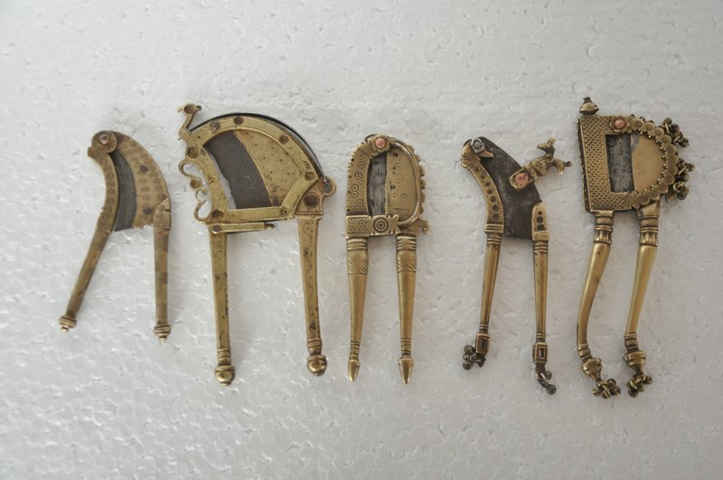 5Pc Old Brass Fine Quality Betel Nut Cutters / Sarota, Collection Pieces -  30575