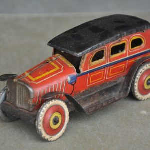 Vintage Wind Up I.I Trademark 19329 Litho Sedan Car Tin Toy  , Japan – 29451
