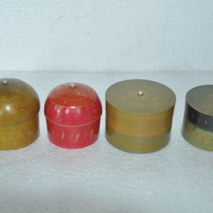 4 Pc Old Wooden Different Handcrafted Colorful Lacquer Powder Boxes – 38733